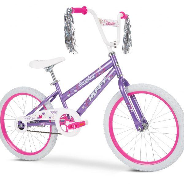 Bicicleta niña sea stars. Purpura. Marca Huffy 1