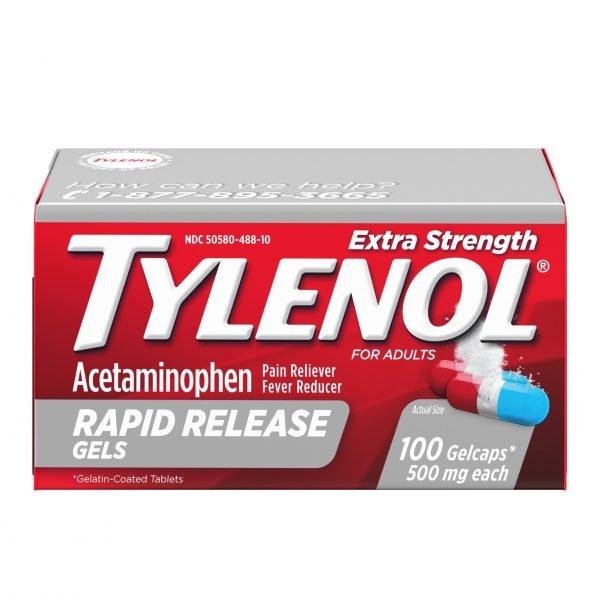 Tylenol con acetaminofen 1
