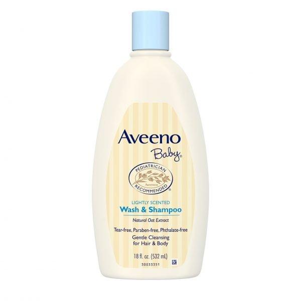 Aveeno Baby Gentle Wash & Shampoo con extracto de avena natural
