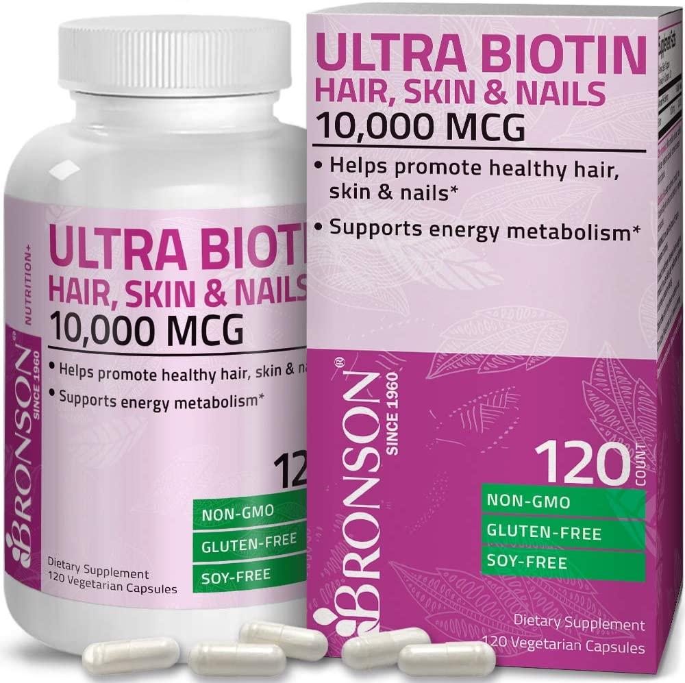 Bronson Ultra Biotina Complemento para la piel y las uñas,