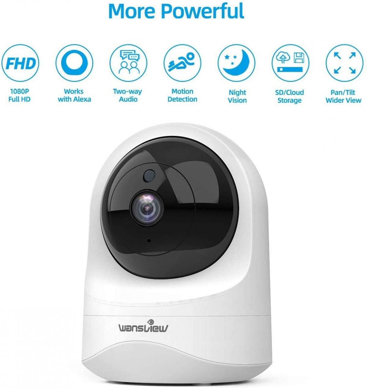Cámara de seguridad inalámbrica para el hogar - Wansview 1080PHD