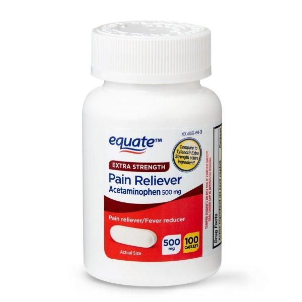 Cápsulas de acetaminofén de fuerza extra, Equate,