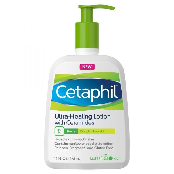 Cetaphil Loción ultra curativa con ceramidas para pieles secas, ásperas y escamosas 1