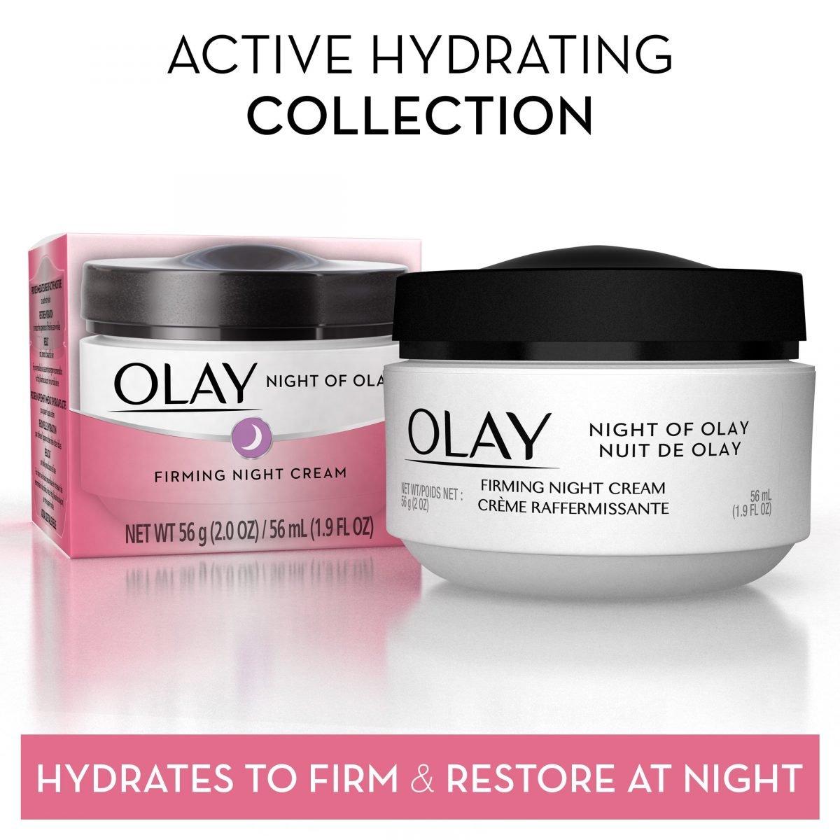 Crema hidratante facial reafirmante para la noche - Night of Olay