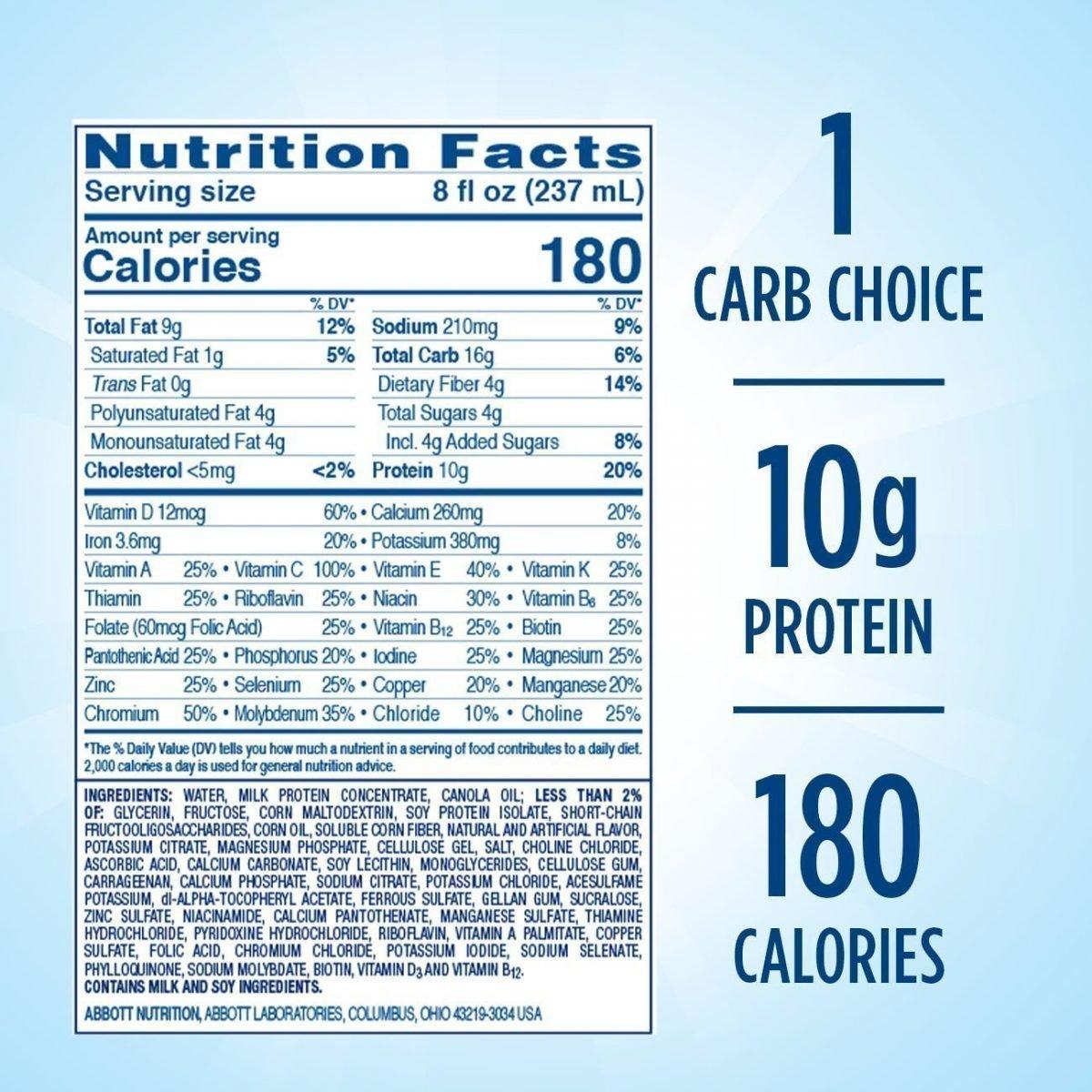 Glucerna, batido nutricional para diabetes