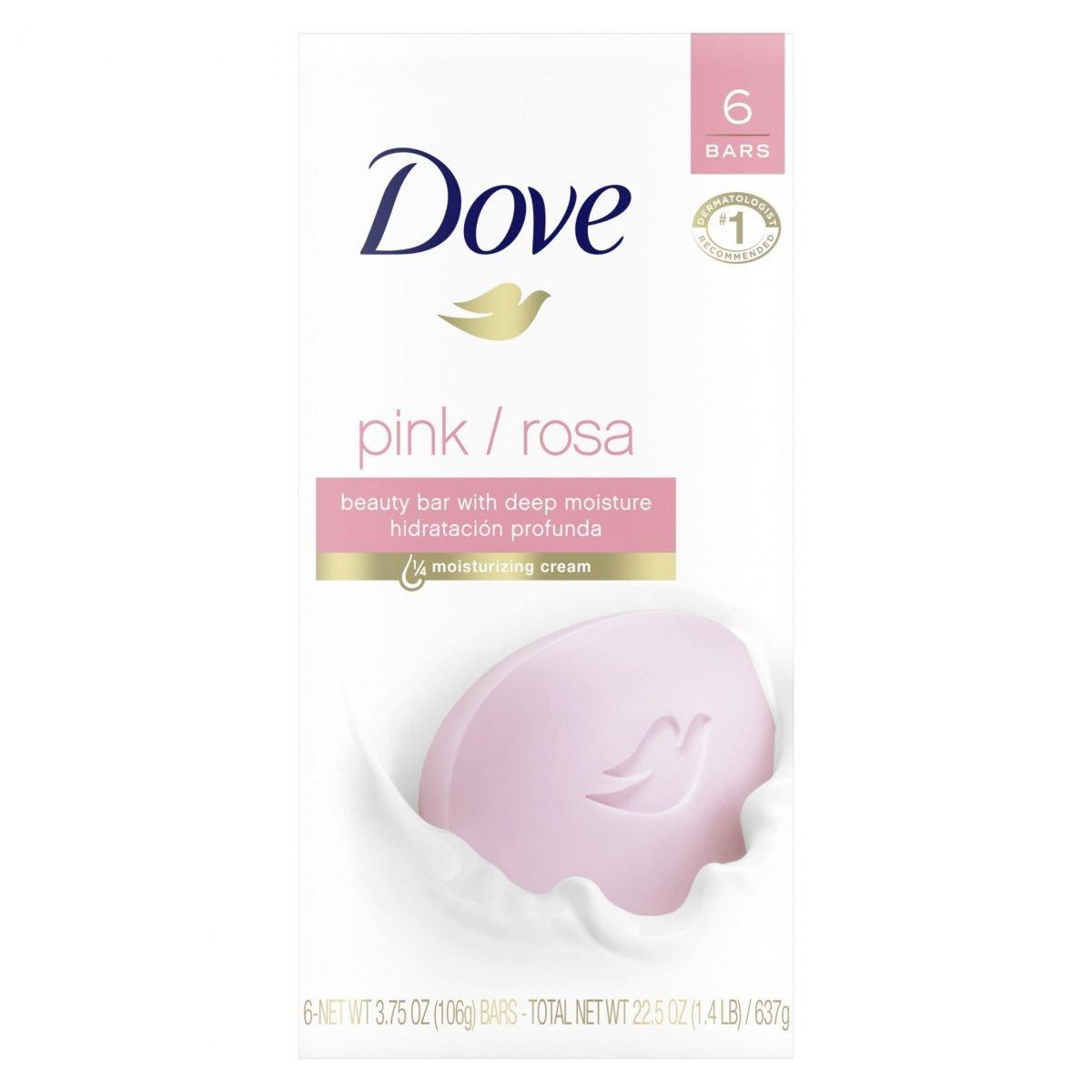 Jabón Dove Pink Beauty, 6 barras