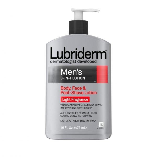Lubriderm - Loción hidratante 3 en 1 para hombres con aloe