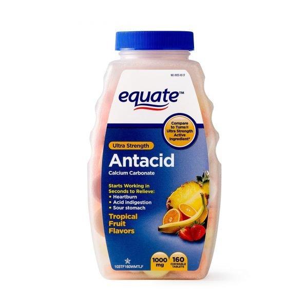 Tabletas masticables de frutas tropicales antiácidas