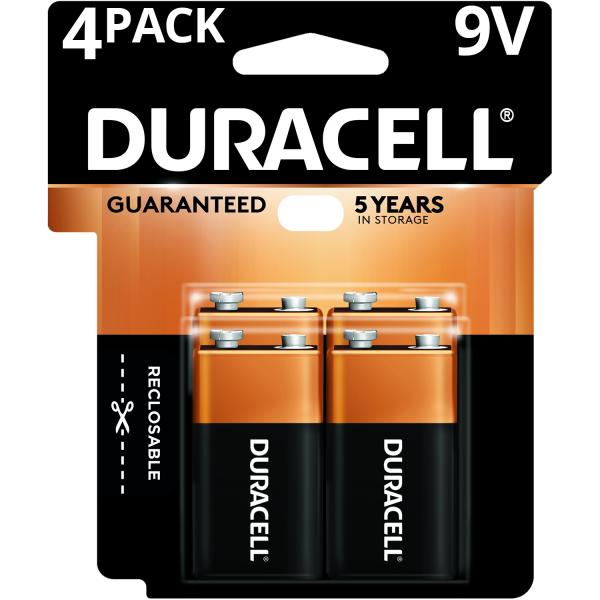 Duracell Baterías de larga duración de 9V