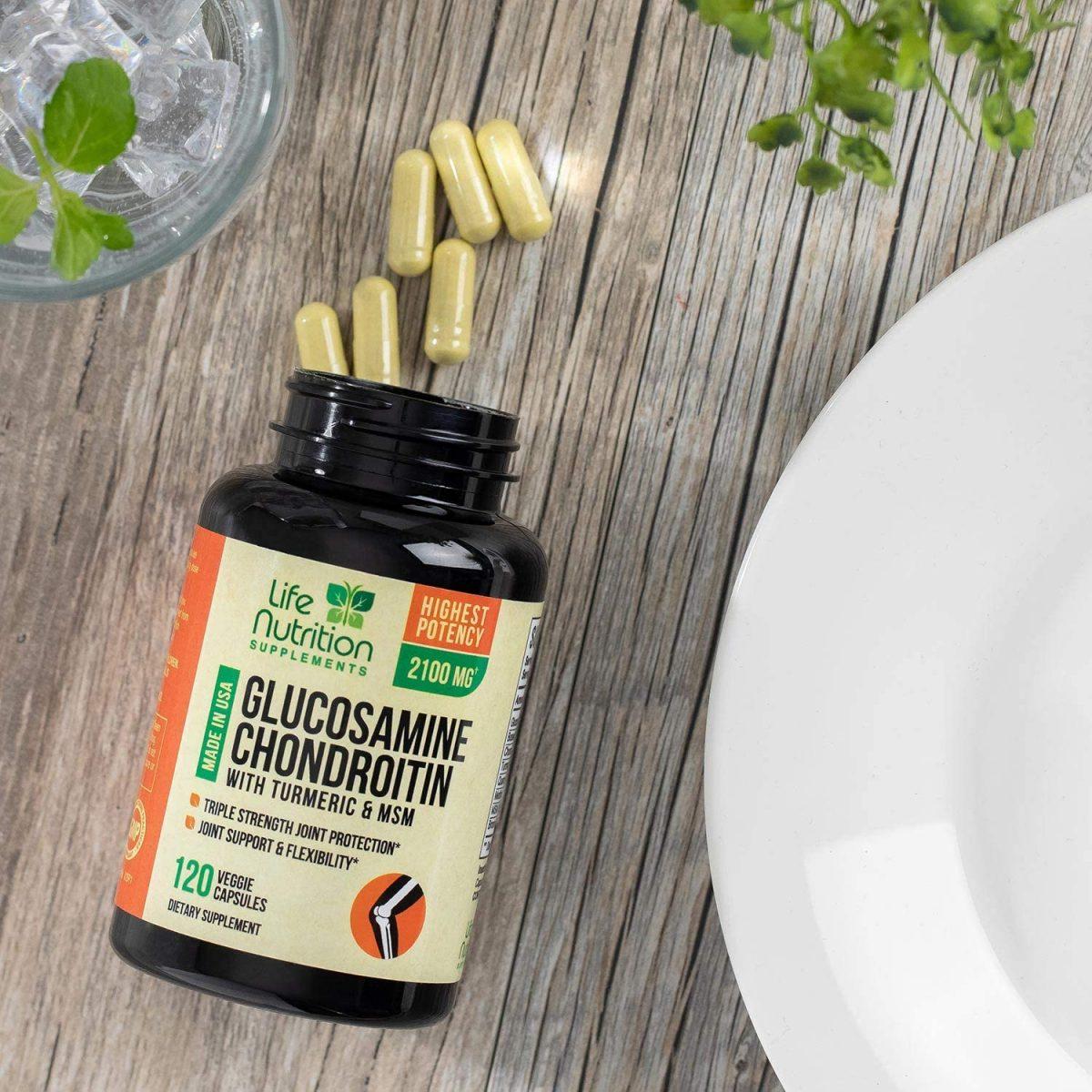 Glucosamina con cúrcuma de condroitina