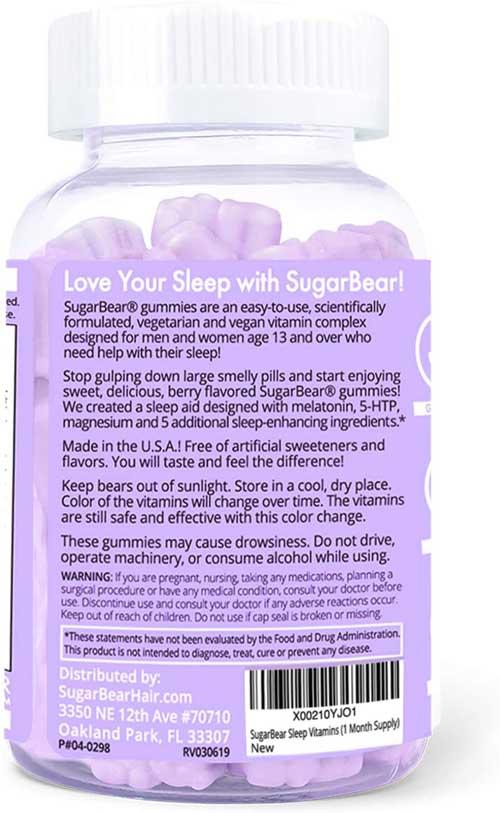 Vitaminas Sugar Bear Sleep para dormir